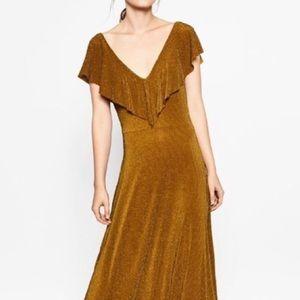 Bronze Metallic Zara Dress - S/P